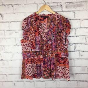 Violet & Claire pink print blouse